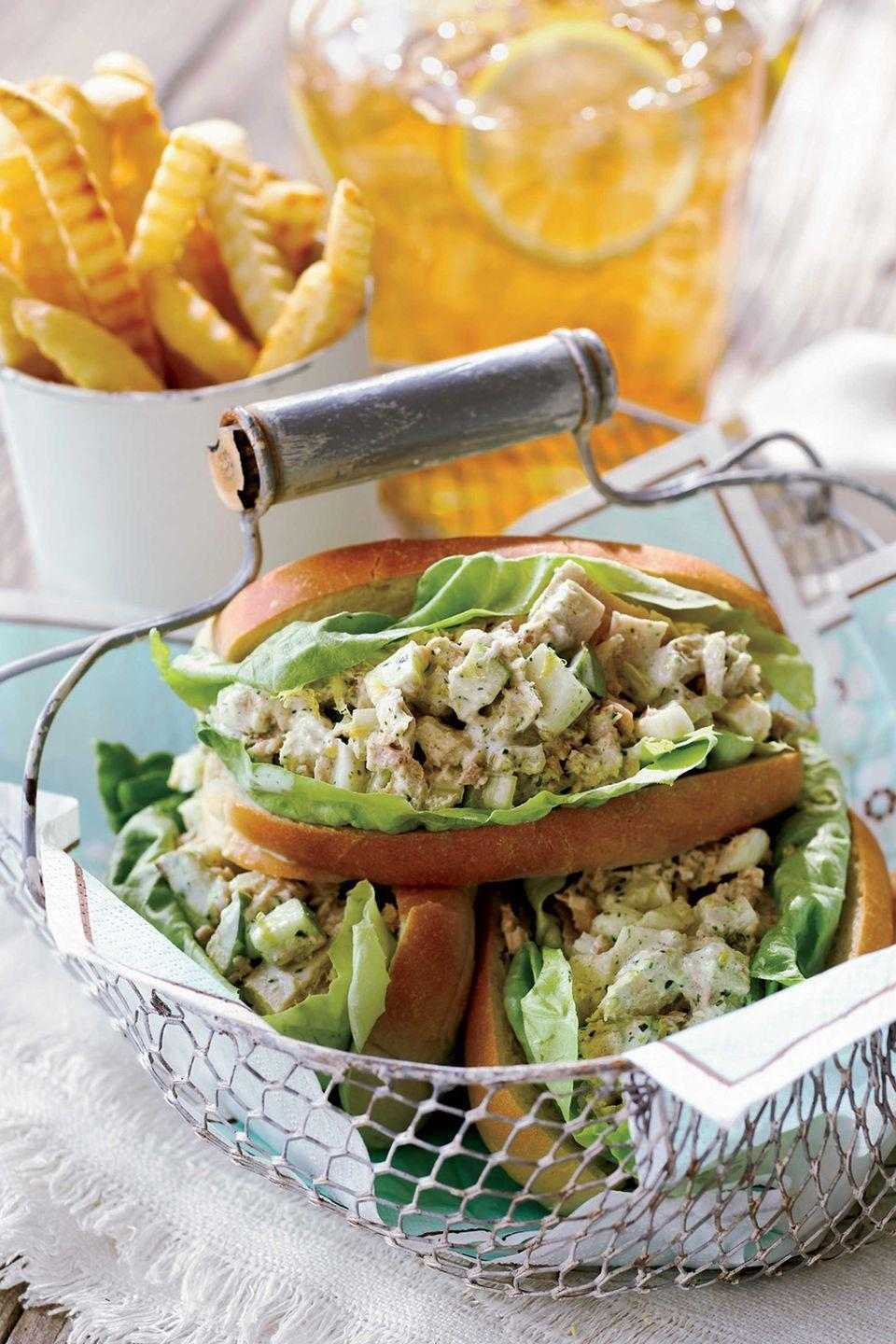 "<p>This sandwich bursts with fresh flavors, from tart Granny Smith apple to crisp, spicy fennel.</p><p><strong><a href=""https://www.countryliving.com/food-drinks/recipes/a1963/garden-tuna-salad-sandwich-clv0707/"" rel=""nofollow noopener"" target=""_blank"" data-ylk=""slk:Get the recipe"" class=""link rapid-noclick-resp"">Get the recipe</a>.</strong></p>"