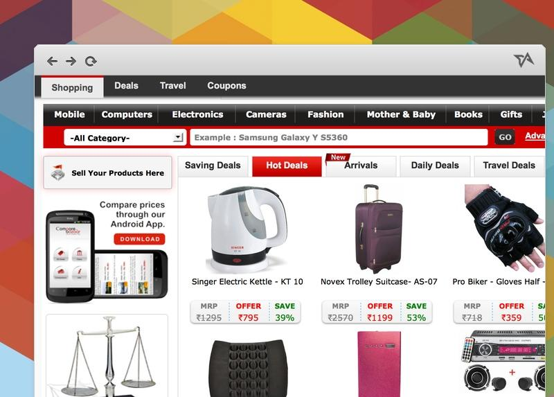 8 Hot Shopping Search Engines in India (in 2013)