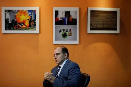Venezuelan economist Francisco Rodriguez pauses during an interview with Reuters in Caracas