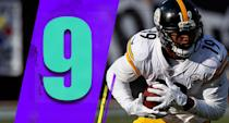 <p>Antonio Brown is one of the best receivers of his era, a likely Hall of Famer. Yet this season, JuJu Smith-Schuster has more catches and more yards too. Smith-Schuster was a grand slam draft pick by the Steelers in the late second round last year. (JuJu Smith-Schuster) </p>