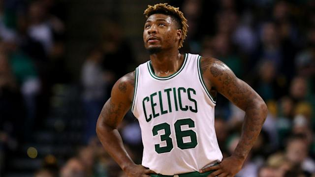 Marcus Smart thinks he will be available if the Boston Celtics were taken to a seventh game by the Milwaukee Bucks.