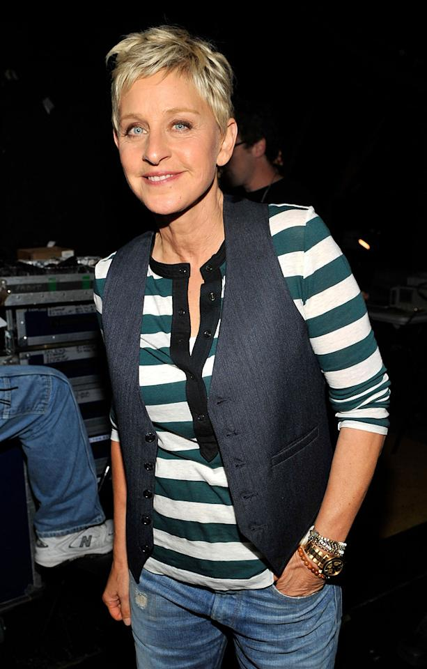 "January 26: Ellen DeGeneres turns 53 Kevin Mazur/<a href=""http://www.wireimage.com"" target=""new"">WireImage.com</a> - August 8, 2010"