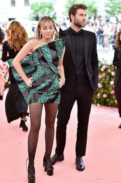 PHOTO: Miley Cyrus and Liam Hemsworth attend The 2019 Met Gala Celebrating Camp: Notes on Fashion at Metropolitan Museum of Art on May 06, 2019, in New York. (Theo Wargo/WireImage/Getty Images, FILE)