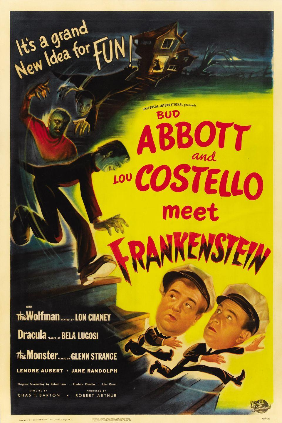 """<p>Comedy duo Abbott and Costello kicked off their famed movie series with <em>Abbott and Costello Meet Frankenstein</em>. The pair would follow up the success of this film by """"meeting"""" the Invisible Man, Dr. Jekyll and Mr. Hyde, and the Mummy, to name a few. </p>"""