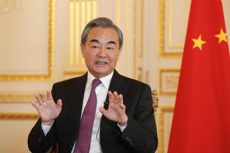 "Chinese Foreign Minister Wang Yi said a trade deal between China and Europe was ""progressing well"""