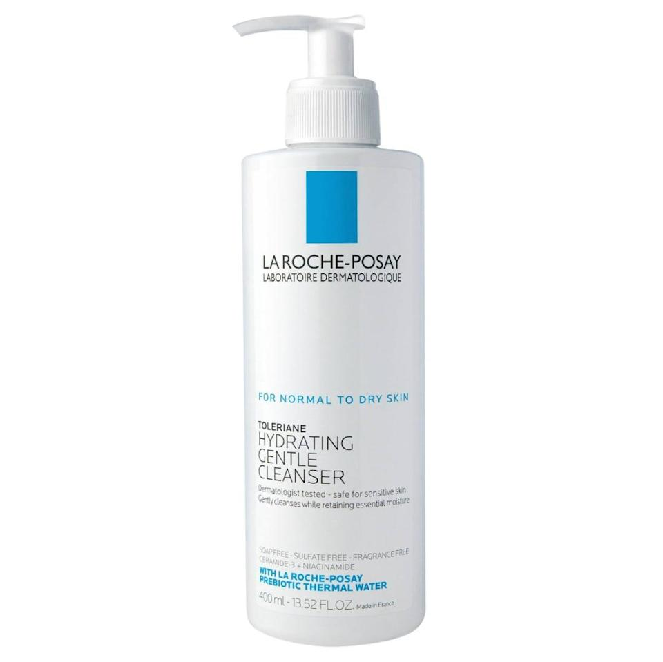 <p>This <span>La Roche-Posay Toleriane Hydrating Cleanser </span> ($15) is a gentle choice for someone who has skin on the sensitive side. It's enriched with the brand's signature prebiotic thermal water, which helps retain skin's natural moisture. </p>