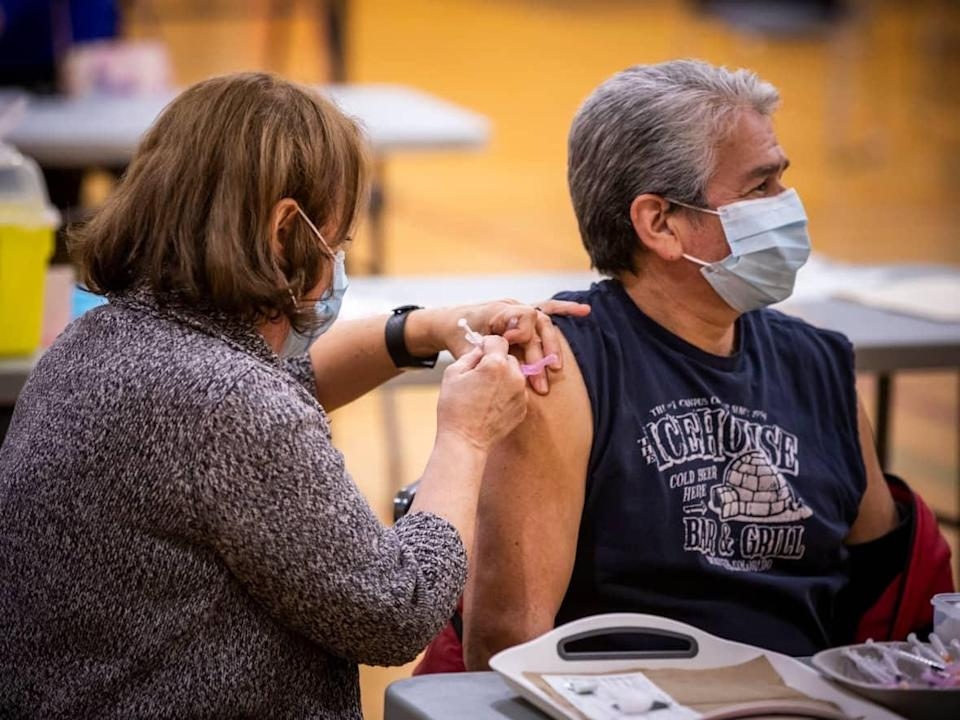 While unvaccinated people represented the majority of COVID-19 deaths in September, B.C. CDC data shows all of the fully-vaccinated people dying in B.C. from the virus are over the age of 60, with the majority aged 80 or older. (Ben Nelms/CBC - image credit)