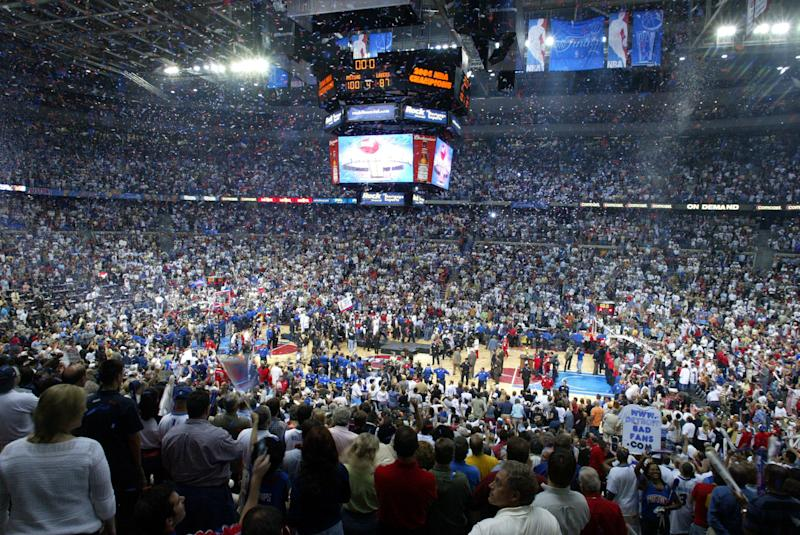 The Detroit Pistons won three championships while at the Palace, the last of which was in 2004. (AP Photo/John F. Martin)