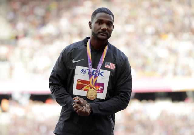 "<a class=""link rapid-noclick-resp"" href=""/olympics/rio-2016/a/1127210/"" data-ylk=""slk:Justin Gatlin"">Justin Gatlin</a>'s team told undercover reporters it could supply them with performance-enhancing drugs. (AP)"