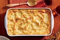"""<p><strong>Recipe: <a href=""""https://www.southernliving.com/recipes/cheesy-potato-casserole-recipe"""" rel=""""nofollow noopener"""" target=""""_blank"""" data-ylk=""""slk:Cheesy Mashed Potato Casserole"""" class=""""link rapid-noclick-resp"""">Cheesy Mashed Potato Casserole</a></strong></p> <p>Get ready for a new weeknight (and holiday!) favorite. This updated recipe for cheesy mashed potatoes masters the creamy, dreamy factor. </p>"""