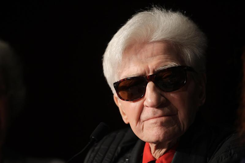 FILE - In this May 21, 2012 file photo, director Alain Resnais listens during a press conference for You Havent Seen Anything Yet at the 65th international film festival, in Cannes, southern France. Seminal filmmaker Alain Resnais, whose inventiveness in film made him among the world's cinema greats, has died Saturday March 1, 2014. He was 91. (AP Photo/Joel Ryan, File)