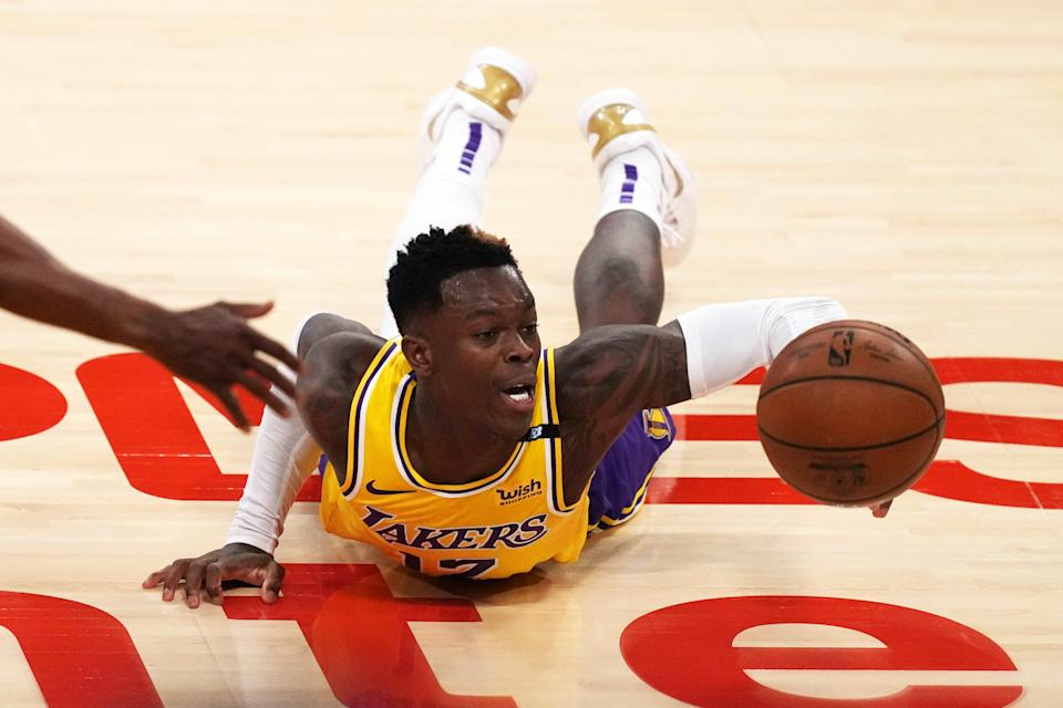 Guard Dennis Schroder averaged 14.3 points and 2.8 assists per game in the Lakers' first-round playoff loss to the Suns.