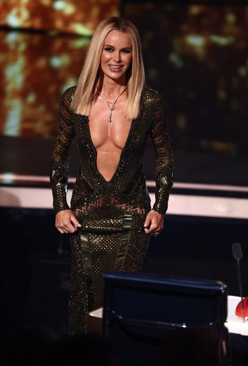 This dress of Amanda's in 2017 also sparked Ofcom complaints (Photo: Syco / Thames / Dymond)