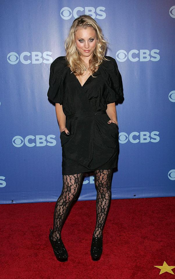 "Kaley Cuoco (""Big Bang Theory"") attends the 2010 CBS Upfront at The Tent at Lincoln Center on May 19, 2010 in New York City."