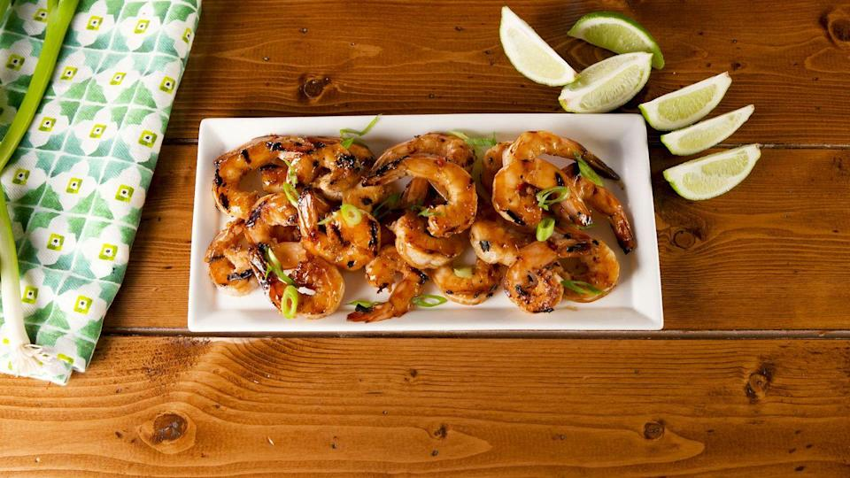 """<p>The glaze is out of this world.</p><p>Get the recipe from <a href=""""https://www.delish.com/cooking/a26551522/spiced-rum-glazed-shrimp-recipe/"""" rel=""""nofollow noopener"""" target=""""_blank"""" data-ylk=""""slk:Delish"""" class=""""link rapid-noclick-resp"""">Delish</a>.</p>"""