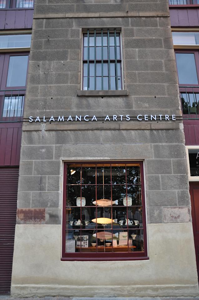 Hobart, the capital of Tasmania, is fill with quaint little boutiques and stores like this one, which is located in Salamanca Square.