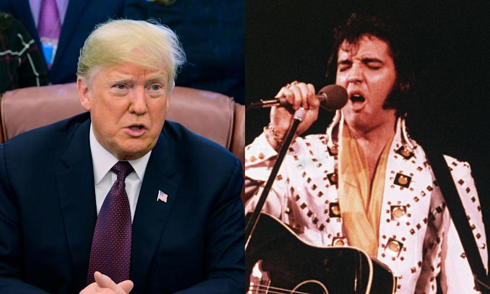 President Trump and Elvis Presley (Photo: Getty Images)