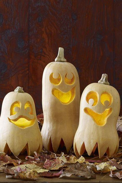 """<p>No need to look any further than the produce section to create this band of merry Halloween revelers. <strong><br></strong></p><p><strong>Get the tutorial at <a href=""""https://www.womansday.com/home/crafts-projects/a28690013/happy-haunters-pumpkins/"""" rel=""""nofollow noopener"""" target=""""_blank"""" data-ylk=""""slk:Woman's Day"""" class=""""link rapid-noclick-resp"""">Woman's Day</a>.</strong></p>"""
