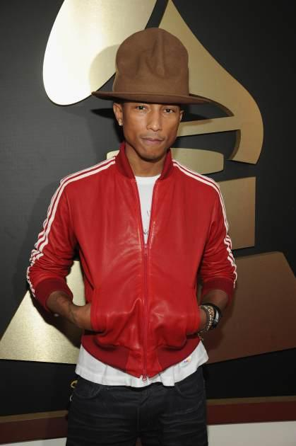 Pharrell Williams attends the 56th Grammy Awards at Staples Center on January 26, 2014 in Los Angeles -- Getty Images