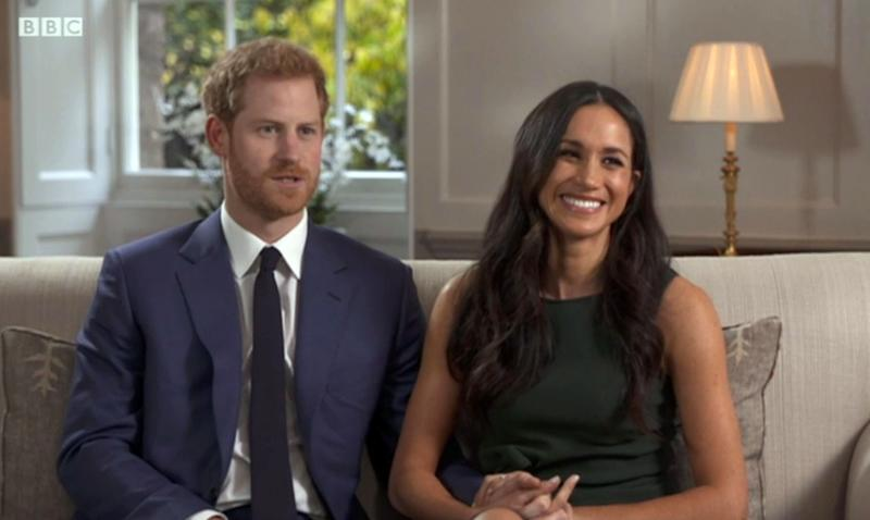 Prince Harry and Meghan Markle during their BBC interview after the announcement of their engagement. [Photo: PA]