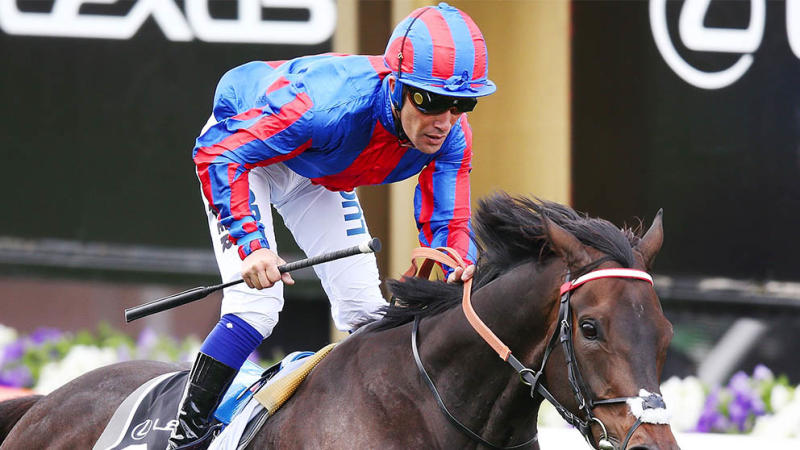 Jockey Michael Walker said he shut down his social media after copping online abuse following his penalty at the Melbourne Cup. (Getty Images)