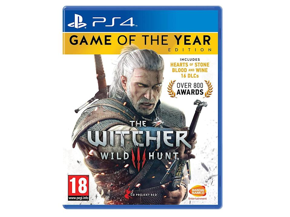 'The Witcher 3' game of the year edition for PS4: Was £15.90, now £13.50, Amazon.co.uk (IndyBest)