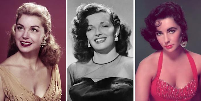 Nothing screams Old Hollywood glamour quite like some sparkling diamond earrings, like the ones seen here on Esther Williams, Jane Russell and Elizabeth Taylor.
