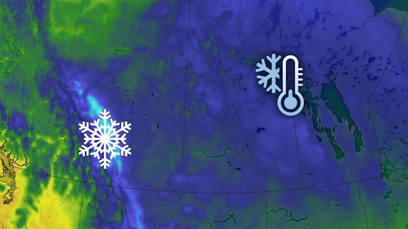 Taste of early fall weather on the Prairies, with cold air, mountain snow