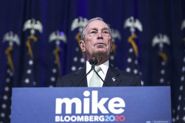 PHOTO: Democratic presidential candidate, former New York Mayor Michael Bloomberg speaks during a press conference to discuss his presidential run, Nov. 25, 2019, in Norfolk, Va. (Drew Angerer/Getty Images)