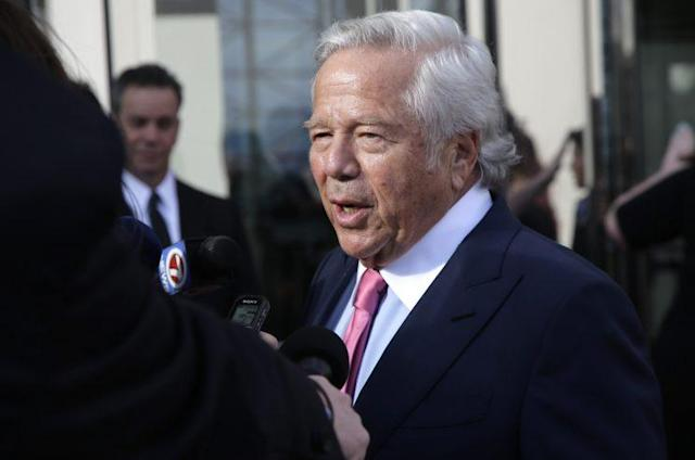 Patriots owner Robert Kraft sees live-streaming games as the NFL's future. (AP)