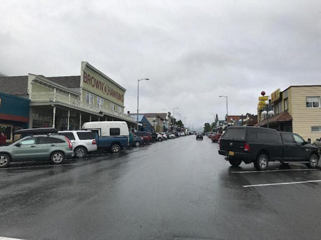 Downtown Seward, about two-and-a-half hours south of Anchorage, has a population of roughly 2,500. (Photo: Andrew Bahl/Yahoo News)