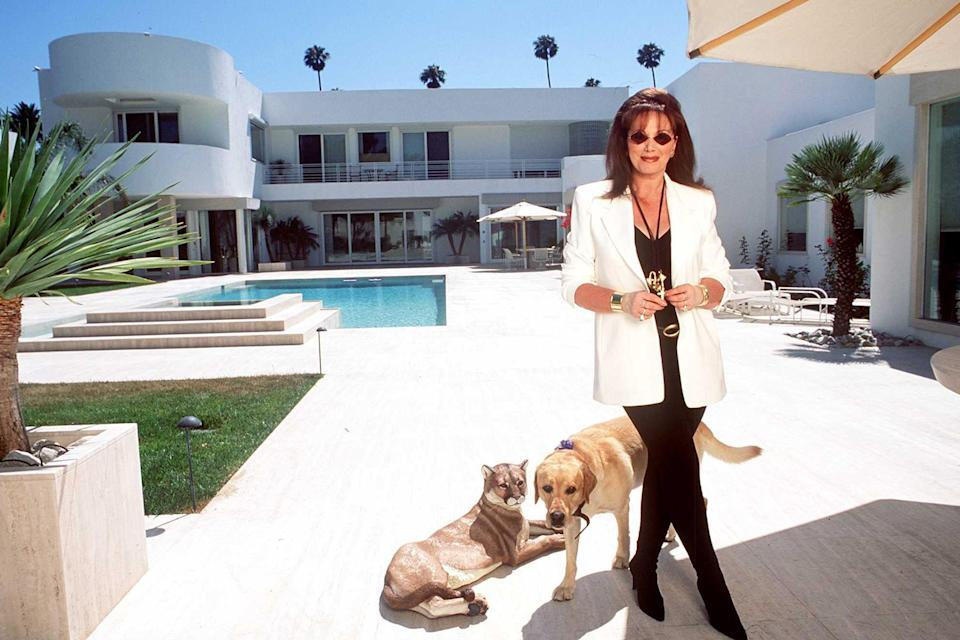 Beverly Hills California Jackie Collins At Jackies New Home In Beverlyhills She Designed Her - Credit: Paul Harris/Getty Images/Courtesy of CNN