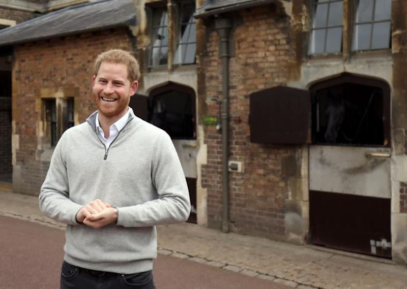 The Duke of Sussex wore the fleece to announce the birth of his first child on May 6, 2019 [Photo: Getty]
