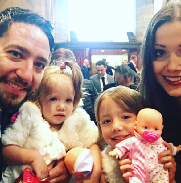 Sophie's husband Chris isn't a fan of her refusing to wean their daughters. Photo: Instagram
