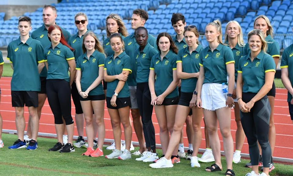 Members of Australia's Olympic athletics team. Australia will be taking a 63-strong track and field team.