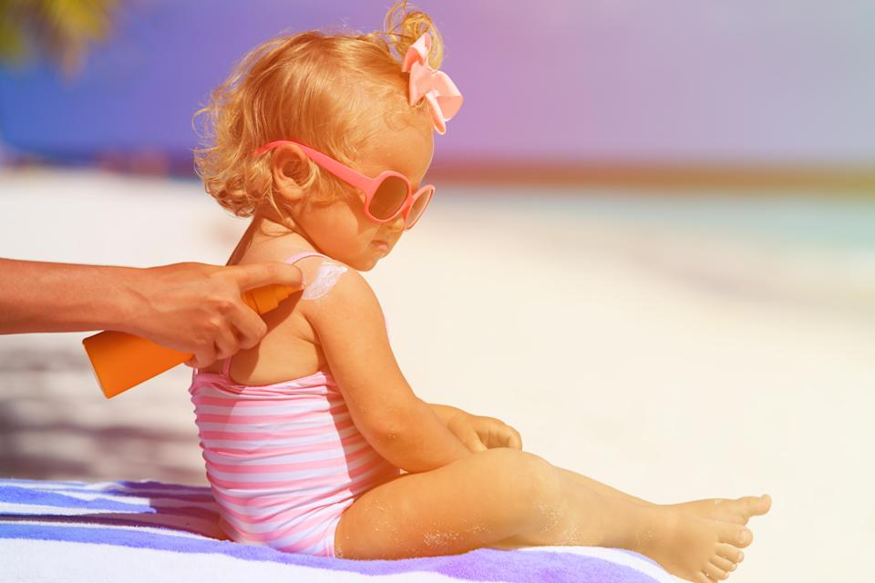 A mum has issued a warning to other parents about not checking the UV rating on sunscreen [Photo: Getty]