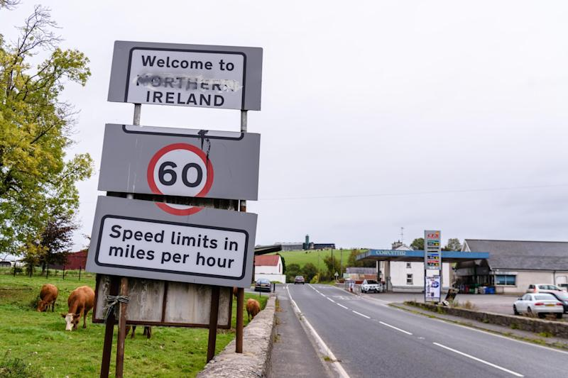 Sticking point: the Irish border issue continues to dog the Brexit talks: Alamy Stock Photo