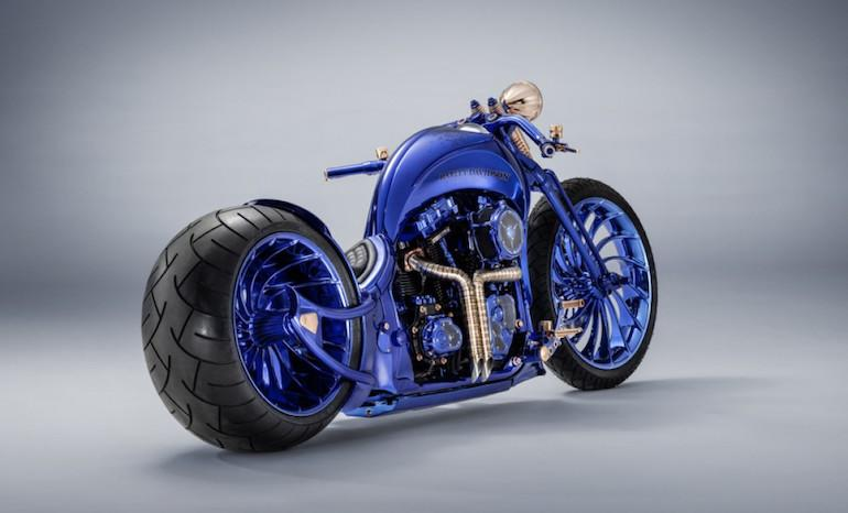 The Slim S Blue Edition definitely has some mid-2000s chopper flavor