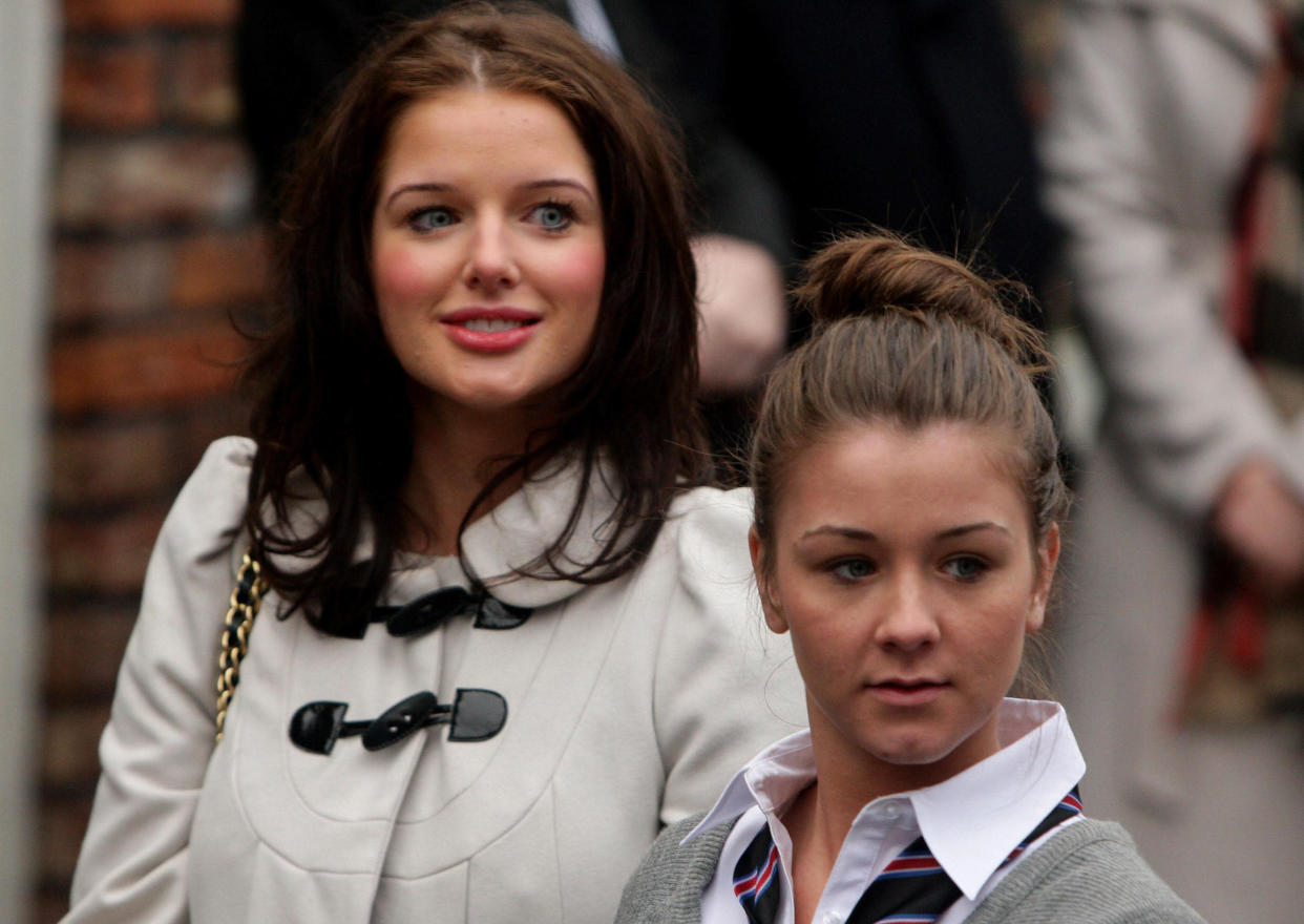 Brooke Vincent with her on-screen sister Helen Flanagan on the set of 'Coronation Street' in 2010. (Dave Thompson/PA Images via Getty Images)