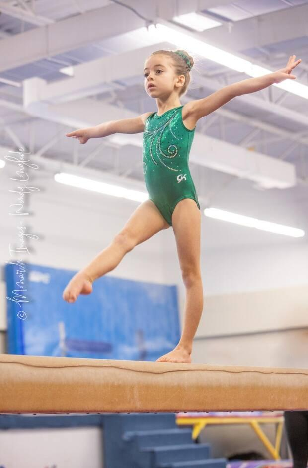Kayley D'Elia is seven years old and is already four years into her gymnastics career.