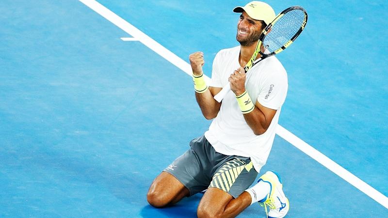 Robert Farah, pictured here in action at the 2018 Australian Open.