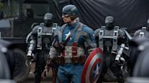 """<p>The MCU goes period with this movie, which mostly follows Steve Rogers as he helps the Allies during World War II — with the little help of a serum that makes him strong, fast and tough. Alan Menken, who's composed most of <a href=""""https://www.goodhousekeeping.com/life/entertainment/g26886855/best-disney-songs/"""" rel=""""nofollow noopener"""" target=""""_blank"""" data-ylk=""""slk:your favorite Disney songs"""" class=""""link rapid-noclick-resp"""">your favorite Disney songs</a>, even wrote him <a href=""""https://www.youtube.com/watch?v=DxRKwKJI_uI"""" rel=""""nofollow noopener"""" target=""""_blank"""" data-ylk=""""slk:a little wartime theme song"""" class=""""link rapid-noclick-resp"""">a little wartime theme song</a>. </p><p><a class=""""link rapid-noclick-resp"""" href=""""https://www.amazon.com/Captain-America-Avenger-Chris-Evans/dp/B005PW3OS8?tag=syn-yahoo-20&ascsubtag=%5Bartid%7C10055.g.29023076%5Bsrc%7Cyahoo-us"""" rel=""""nofollow noopener"""" target=""""_blank"""" data-ylk=""""slk:AMAZON"""">AMAZON</a> <a class=""""link rapid-noclick-resp"""" href=""""https://go.redirectingat.com?id=74968X1596630&url=https%3A%2F%2Fwww.disneyplus.com%2Fmovies%2Fmarvel-studios-captain-america-the-first-avenger%2F6xvB6xZ4r95O&sref=https%3A%2F%2Fwww.goodhousekeeping.com%2Flife%2Fentertainment%2Fg29023076%2Fmarvel-movies-mcu-in-order%2F"""" rel=""""nofollow noopener"""" target=""""_blank"""" data-ylk=""""slk:DISNEY+"""">DISNEY+</a></p><p><strong>RELATED: </strong><a href=""""https://www.goodhousekeeping.com/life/entertainment/a29459609/best-disney-plus-shows/"""" rel=""""nofollow noopener"""" target=""""_blank"""" data-ylk=""""slk:A Full List of Every New Disney Show Available on the Disney+ Streaming Service"""" class=""""link rapid-noclick-resp"""">A Full List of Every New Disney Show Available on the Disney+ Streaming Service</a></p>"""