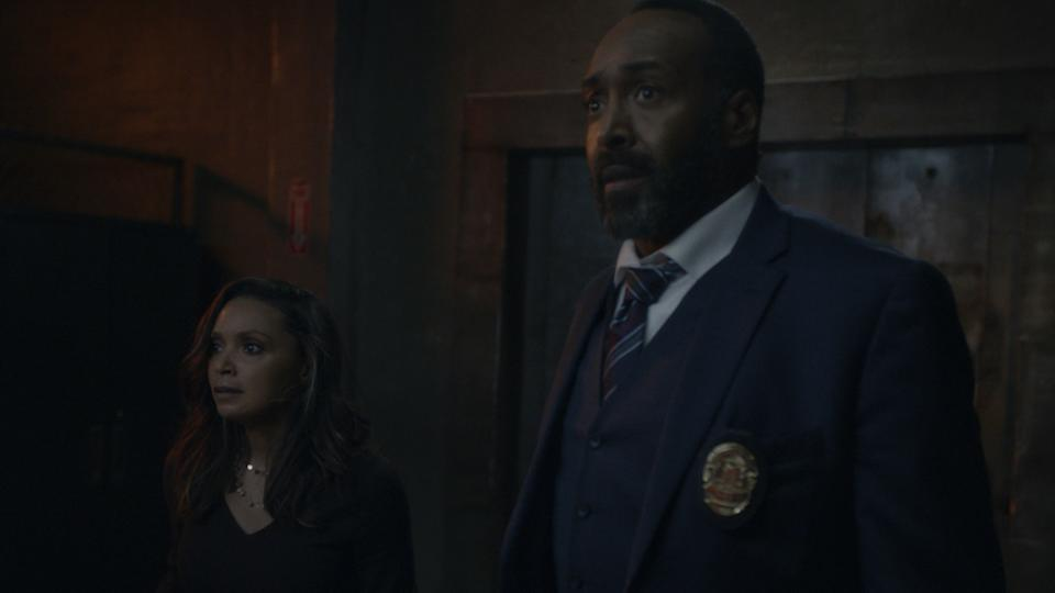 Cecile (Danielle Nicolet) and Joe (Jesse L. Martin) in The Flash. (PHOTO: Warner TV)