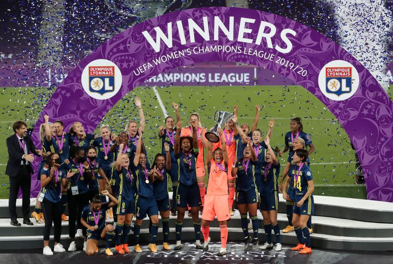 Majestic Lyon beat Wolfsburg to win Women's Champions League