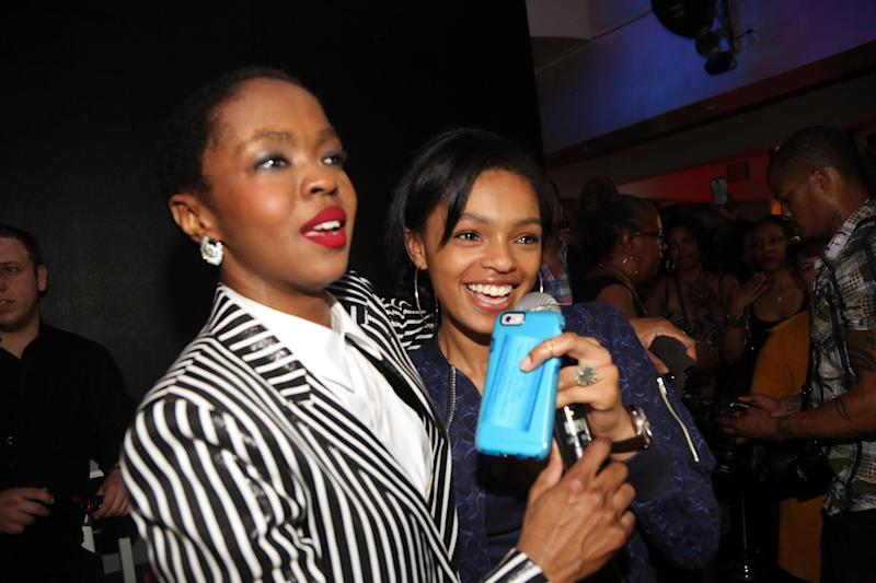 WEST ORANGE, NJ - MAY 26: (L-R) Lauryn Hill and her daughter Selah Marley celebrate Lauryn Hill's birthday at The Ballroom on May 26, 2015, in West Orange, New Jersey. (Photo by Johnny Nunez/Getty Images)