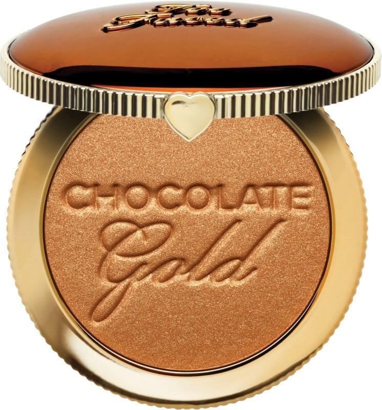 <p>Give your complexion a bronzy glow with the <span>Too Faced Chocolate Gold Soleil Bronzer</span> ($16, originally $32). It smells heavenly.</p>
