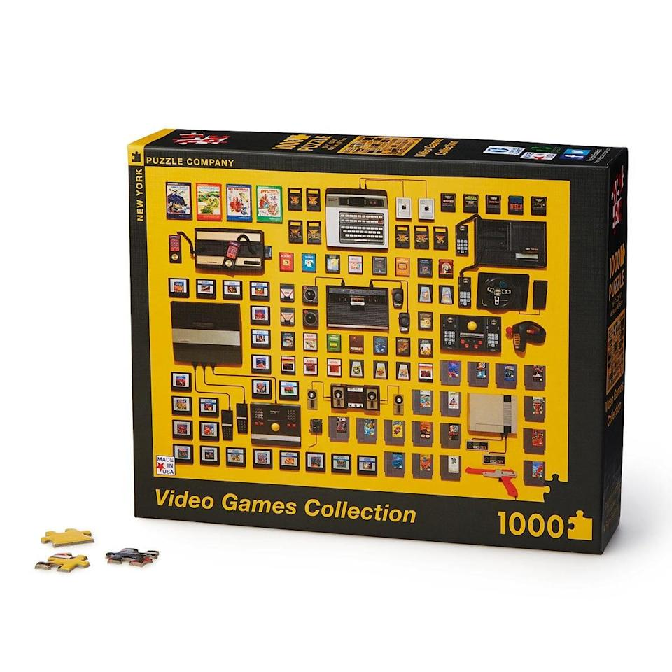 <p>Set them up for a different type of challenge with this <span>Video Games Collection Puzzle</span> ($18).</p>