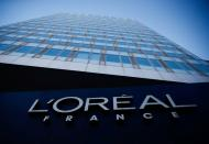The logo of French cosmetics group L'Oreal in the western Paris suburb of Levallois-Perret
