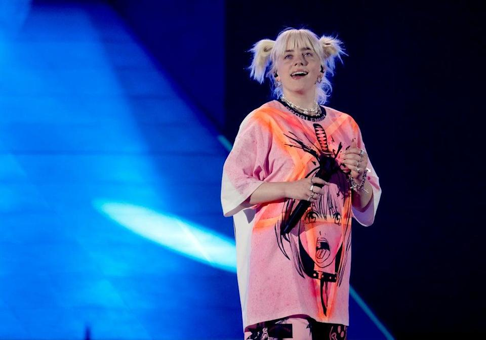 Billie Eilish performs during 2021 iHeart Radio Music festival (Getty Images)