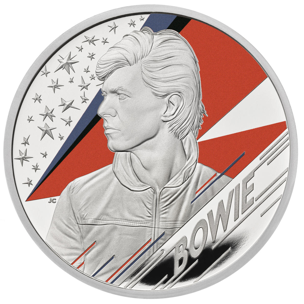 David Bowie one ounce silver proof coin